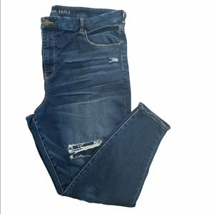 AEO curvy high rise jegging distressed size 24